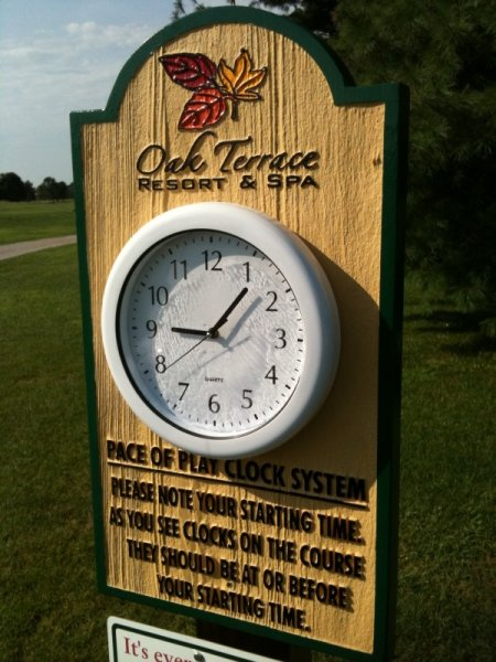 Clocks National Golf Graphics