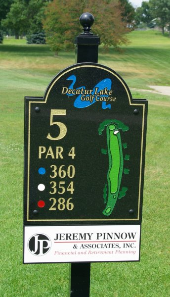Tee Sign Advertising Madison Golf Courses Donor Programs